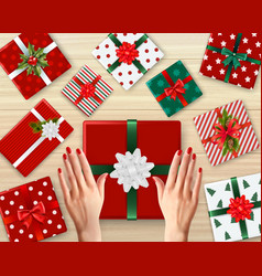 christmas realistic background vector image