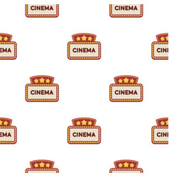 Cinema signboard icon in cartoon style isolated on vector