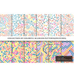 collection of bright colorful seamless vector image
