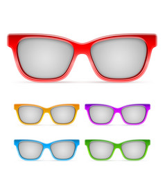 color framed sunglasses vector image