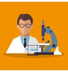 Colorful scientific and laboratory design vector image