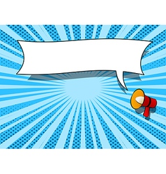 Comic book loudspeaker announcement speech bubble vector