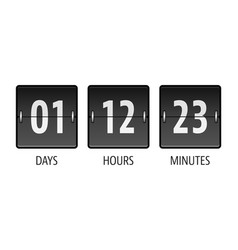 coming soon countdown timer vector image