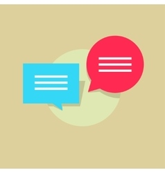 Concept of dialog internet chat communication vector