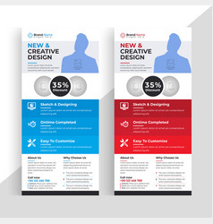 Corporate business dl flyer template design vector