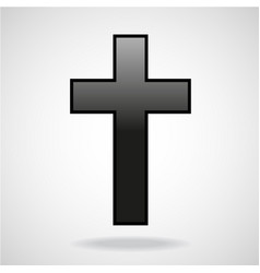 Cross christian symbol isolated on white vector