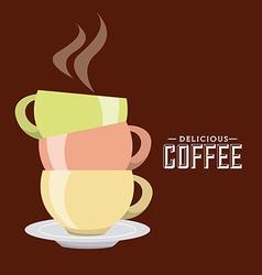 delicious coffee design vector image
