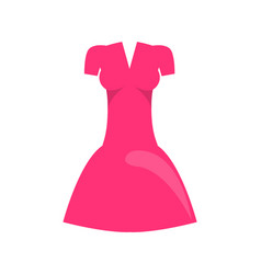 Dress pink color object vector