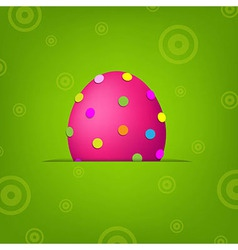 Easter Banner With Egg vector