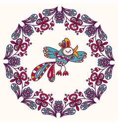 Exotic birds vector image