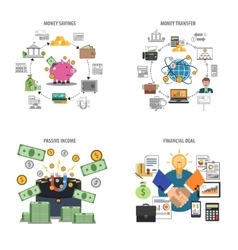 Finance Decorative Icons Set vector