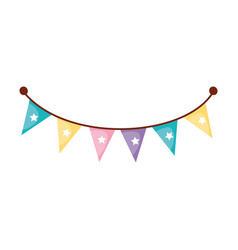 Garlands party hanging icon vector