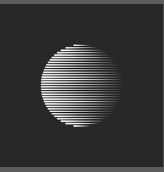 geometric shape circle logo vector image
