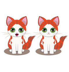 ginger kitten cartoon vector image