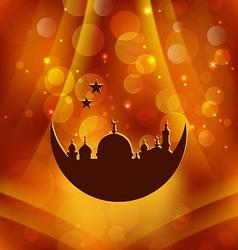 Greeting card template for Ramadan Kareem vector