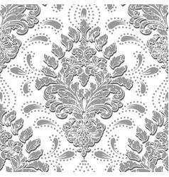 Grunge damask seamless pattern element vector