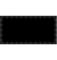 Halloween rectangle spider web border on black vector