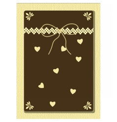 Handmade greeting card with hearts and ornaments vector