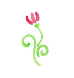 Handwritten watercolor flower vector