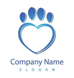 heart vet logo vector image