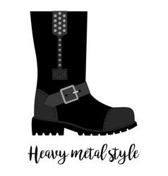Heavy metal style shoe icon vector