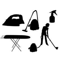 Household appliances silhouette vector