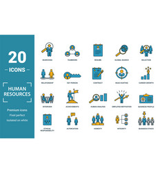 Human resources icon set include creative vector