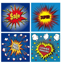 icons in pop art style on the theme vector image