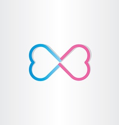 Infinite love infinity heart sign vector
