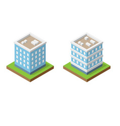 isometric abstract buildings vector image