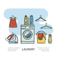 Laundry room vector
