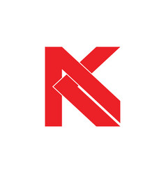 Letter ak flat geometric design logo vector