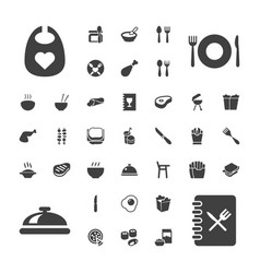 Lunch icons vector