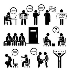 man looking for job employment and interview vector image