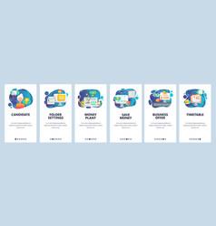 mobile app onboarding screens business offer vector image