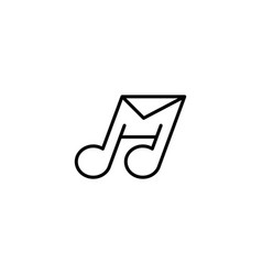 Music mail logo design template vector