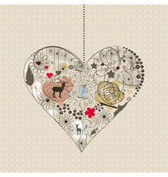 Natural heart vector image