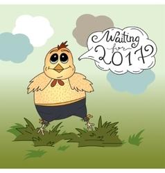 New year wirh chicken vector image