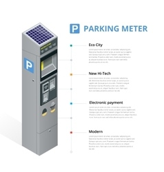 Parking meter allowing payment by mobile phone vector