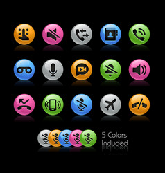 Phone calls icons - gelcolor series vector