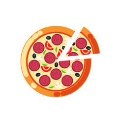 pizza slice pizzeria italian food cuisine icon vector image