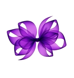 Purple Violet Bow Close up on Background vector