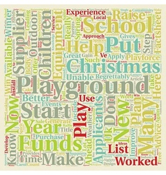 Put A Playground On Your Christmas List text vector image