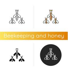Queen bee icon vector