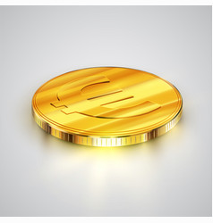 realistic coin vector image