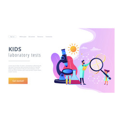 Science camp concept landing page vector