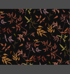 Seamless pattern leaf different branches natural vector