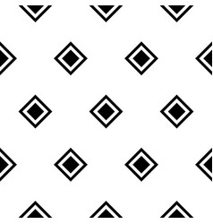 seamless rhombus black and white pattern vector image