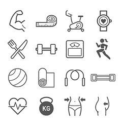 Set exercise icons vector