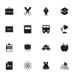 Set of 16 editable knowledge icons includes vector